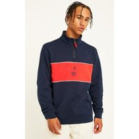 Orsman Quarter-Zip Navy Pullover, blue