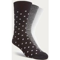 UO Polka Dot and Twist Knit Socks Pack, Assorted