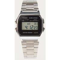 casio alarm chrono digital watch, silver