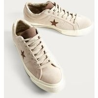 Converse One Star Papyrus Suede Trainers, beige