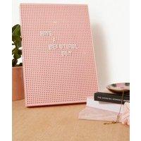 Pink Letter Peg Board, Pink