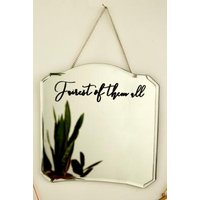 Fairest of Them All Hanging Wall Mirror, silver