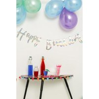 Ginger Ray Happy Birthday Banner, silver