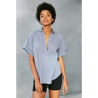 BDG Madison Popover Shirt, Blue