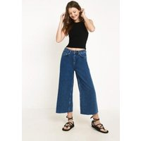 BDG Flood Wide Leg True Blue Jeans, Indigo