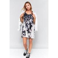 Pins & Needles Tie Dye Babydoll Dress, Black & White