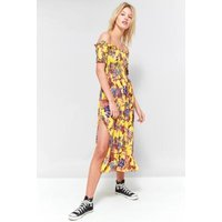 Pins & Needles Floral Picnic Off-The-Shoulder Midi Dress, Yellow