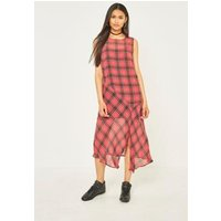 Pins & Needles Checked Midi Tank Dress, Red