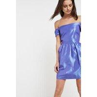 Pins & Needles Bardot Puff Party Dress, purple