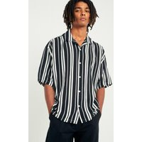 Loom Barca Stripe Revere Collar Shirt, Black