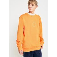 Stussy International Circle Logo Apricot Crewneck Sweatshirt, Orange