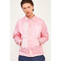 PLEAURES Ian Pink Coach Jacket, pink