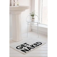 Get Naked Bath Mat, Black & White