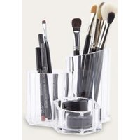 Three Compartment Make-Up Organiser, Clear