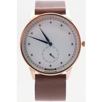 hypergrand classic leather watch, brown