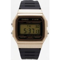 casio f91w retro resin strap digital watch, gold