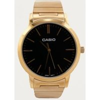 casio gold stainless steel watch, gold