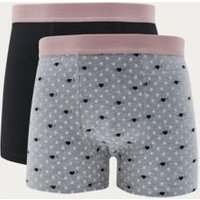 Urban Outfitters Heart Boxer Trunks Pack, Assorted
