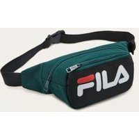 FILA Adams Black and Green Courier Cross Body Bag, Black