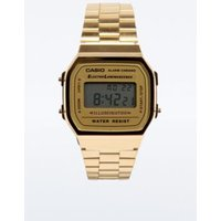 casio gold classic digital watch, gold
