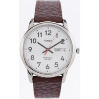timex brown leather strap watch, brown