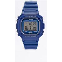 casio blue digital watch, blue