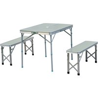 Outsunny 3 Pcs Portable Outdoor Picnic Table-Silver