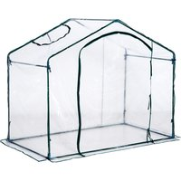 Outsunny Walk In PVC Greenhouse Garden Outdoor Flower Planter Steel Frame w/Zipped Door 180 x 105 x 150CM