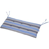 Outsunny Polyester Set Of 2 Swing Chair Cushion Blue Stripes