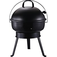 Outsunny Metal Portable Tripod Charcoal BBQ Grill Black