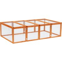 Pawhut Rabbit Hutch W/ Mesh Wire, 181Lx100Wx 48H cm-Wood