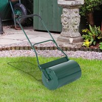 Outsunny Steel Lawn Grass Roller 50L×32 cm-Green