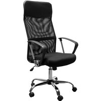 Homcom Swivel Executive Office Chair High Back Mesh Chair Seat Office Desk Chairs Height Adjustable Armchair Black New
