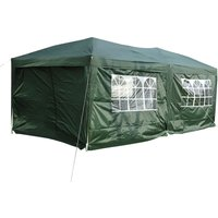 Outsunny 3 x 6m Garden Heavy Duty Water Resistant Pop Up Gazebo Marquee Party Tent Wedding Canopy Awning-Green