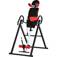 HOMCOM Steel Adjustable Pain Relief Gravity Inversion Table Red/Black