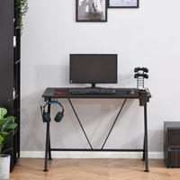 Gaming Desk for working from home or office Computer Table Metal Frame with Cup Holder