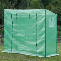 Outsunny Garden Greenhouse W/Top Cover, 198Lx77Wx149168H cm