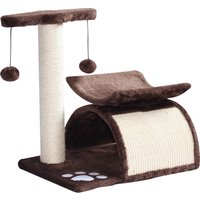 PawHut Cat Tree, Plush, 40Lx30Wx43H cmBrown