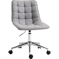 Vinsetto Ergonomic Office Chair Desk Chair with Adjustable Height Soft Breathable Fabric 360° Casters, Grey