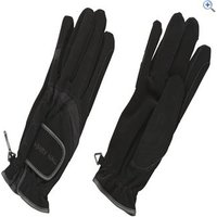 Harry Hall Domy Suede Riding Gloves - Size: L - Colour: Black