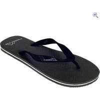 Freedom Trail Wave Womens Flip Flops - Size: 45 - Colour: Black