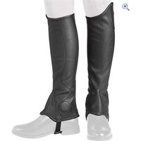 Harry Hall Dalton Unisex Synthetic Gaiters - Size: XS - Colour: Black