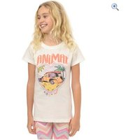 Animal Beach Bus Kids T-Shirt (7-12) - Size: 9-10 - Colour: White