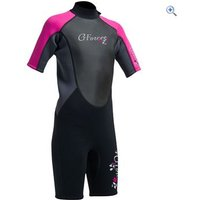 Gul G-Force Junior Girls 3mm FL Shorti Wetsuit - Size: S - Colour: Black / Pink