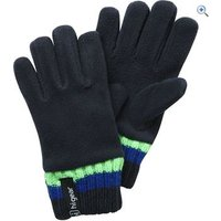Hi Gear Kids Kinder Fleece Rib Glove - Size: M-L - Colour: Blue / Green