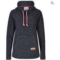 Weird Fish Womens Roskilde Funnel Neck Knitted Fleece Top - Size: 10 - Colour: Dark Navy Blue