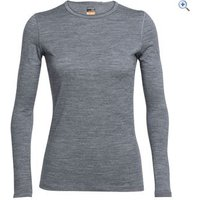Icebreaker Womens Oasis Long Sleeve Crewe - Size: M - Colour: GRITSTONE HEAT