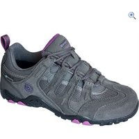Hi-Tec Womens Quadra Classic WP Walking Shoe - Size: 4 - Colour: Charcoal & Purple