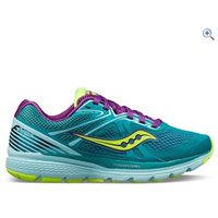 Saucony Swerve Womens Running Shoe - Size: 4 - Colour: TEAL-CITRON