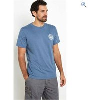 Weird Fish Mens Heritage Surf Graphic Print T-Shirt - Size: XS - Colour: WASHED BLUE